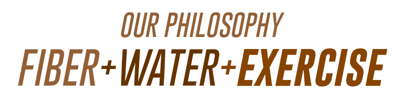 Fiber, water and exercise